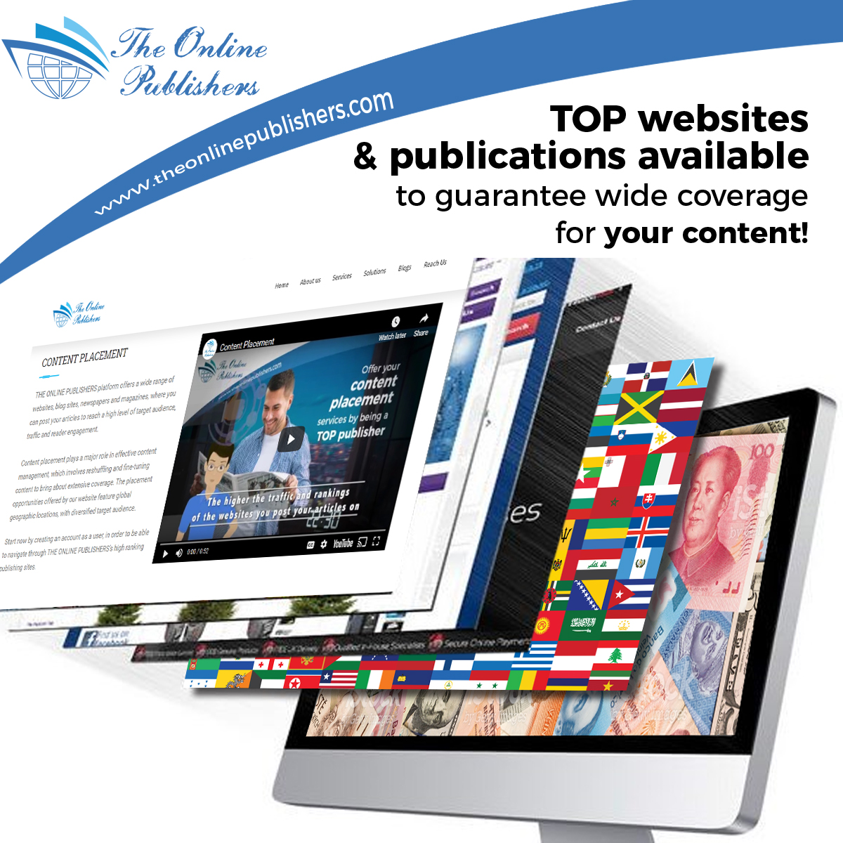 TOP Content placement and publication Platform